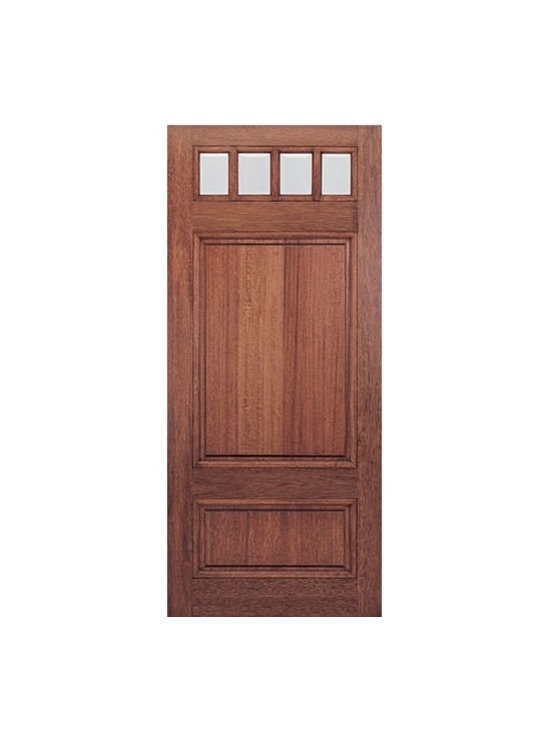 Mahogany Square Top 6-Lite with Panel Bottom Exterior Door -