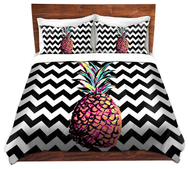 Duvet Cover Twill By Organic Saturation Party Pineapple