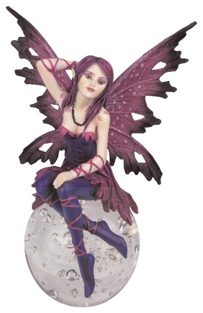 Fairy Collectible Crystal Ball Pixie Fantasy Figurine