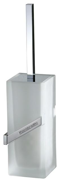 Carmen Toilet Brush Holder, Swarovski Crystal modern-toilet-brushes-and-holders