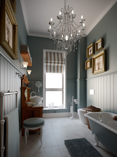 Retro victorian bathroom traditional rendering other for Bathroom ideas edwardian