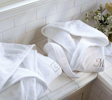 Hydrocotton Hooded Robe, Large, White traditional-bathrobes