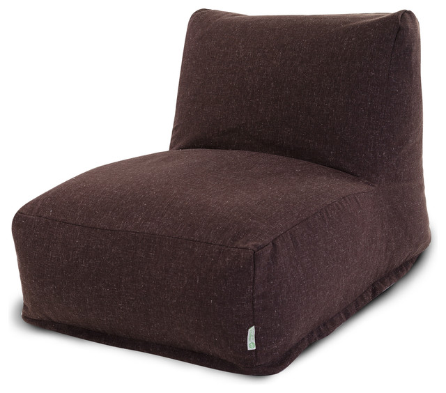 Indoor Chocolate Wales Bean Bag Chair Lounger Contemporary Bean Bag Chair