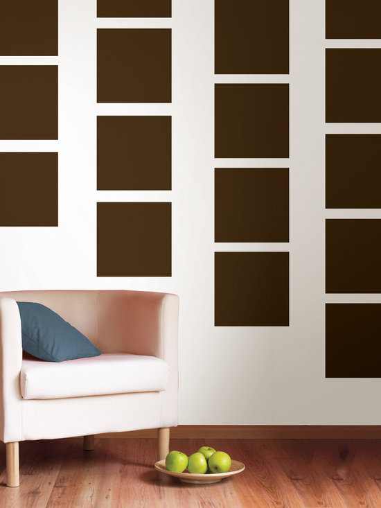 """Hot Chocolate Blox Set of Wall Decals - Super trendy, earthy and best of all, delicious! This pack comes with twenty 13"""" Hot Chocolate brown blox. All WallPops are repositionable and always removable."""
