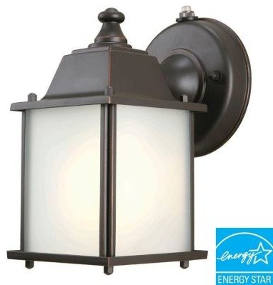 Hampton Bay Outdoor Lanterns. Wall-Mount 1-Light Outdoor Oil