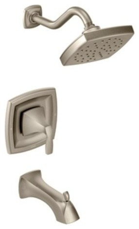 Moen T3693BN Brushed Nickel Voss Tub And Shower Valve Trim Only From Contem