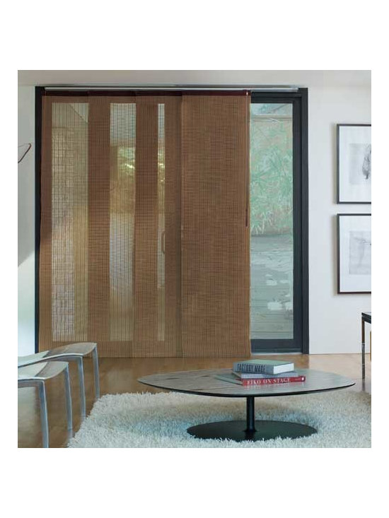 Levolor - Levolor Panel Track Blinds: Woven Woods - Levolor panel track blinds were created as a solution for covering large windows and sliding patio doors.  Levolor's Woven Woods panel track blinds pair modern style and texture appropriate for any setting.