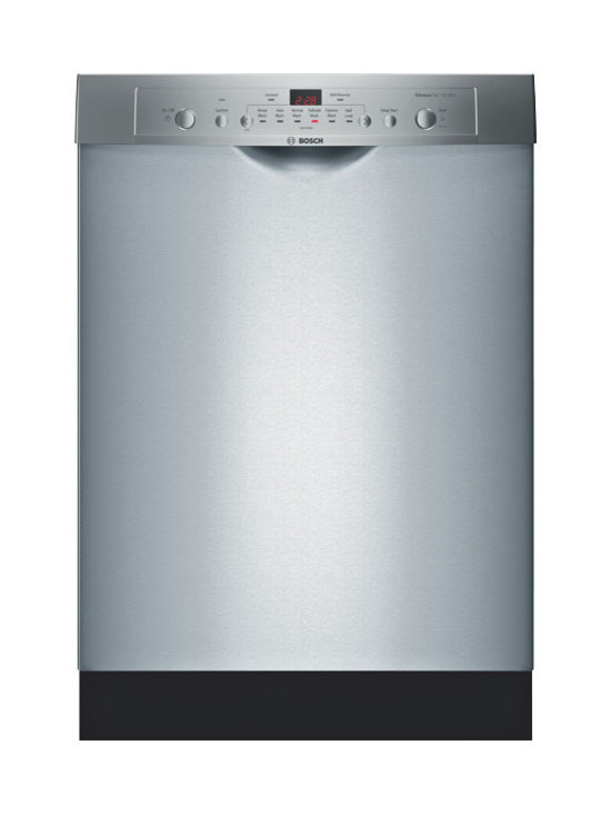 """Bosch 24"""" Ascenta Series Recessed Handle Dishwasher Stainless Steel 