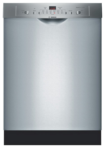 """Bosch 24"""" Ascenta Series Recessed Handle Dishwasher Stainless Steel   SHE3AR75UC dishwashers"""