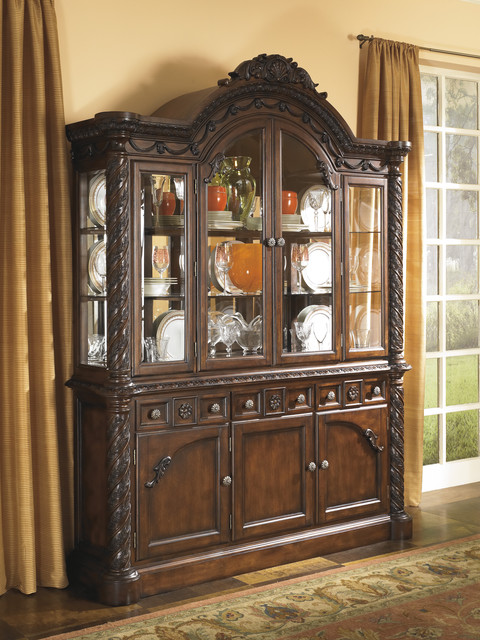Signature Design by Ashley North Shore Dining Room China Hutch - Contemporary - China Cabinets ...