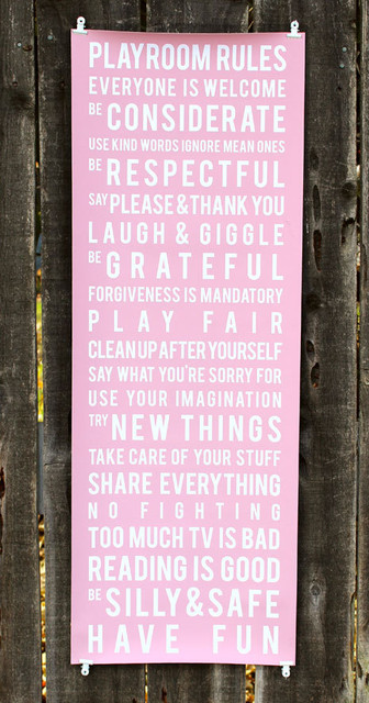 Playroom Rules Subway Art by Lily Gene contemporary-kids-decor