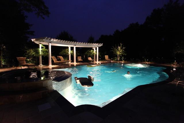 Montvale New Jersey - Landscape Architect NJ mediterranean-pool
