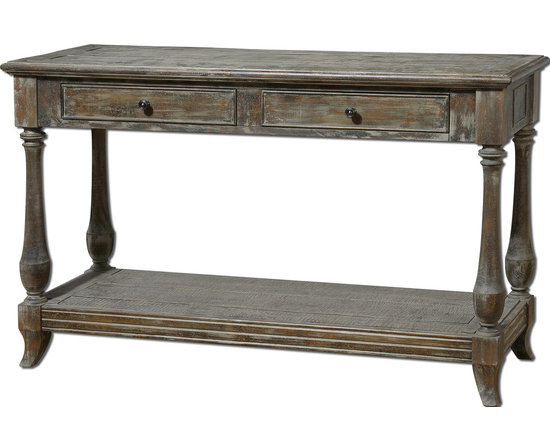 Mardonio Distressed Wood Rustic Console Table - SOLD OUT.