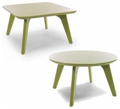 Loll Designs | Satellite 26-Inch End Tables, Round + Square modern-outdoor-dining-tables