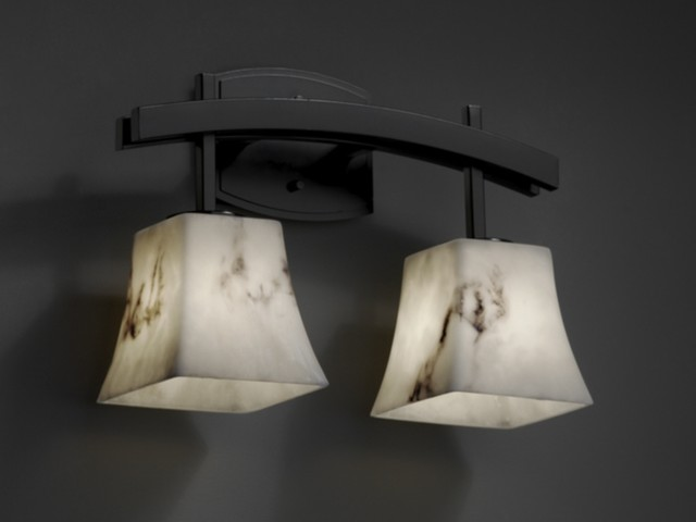 lumenaria archway matte black 2 light bathroom vanity bar light by