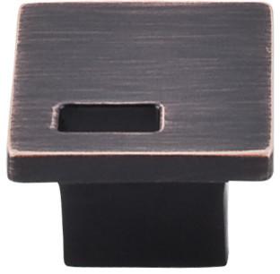 """Modern Metro Slot Knob 1 1/4"""" (c-c) - Tuscan Bronze modern-cabinet-and-drawer-knobs"""