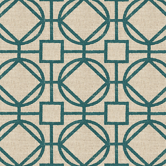 Teal Natural Modern Trellis Fabric Modern Upholstery Fabric By Loom Decor
