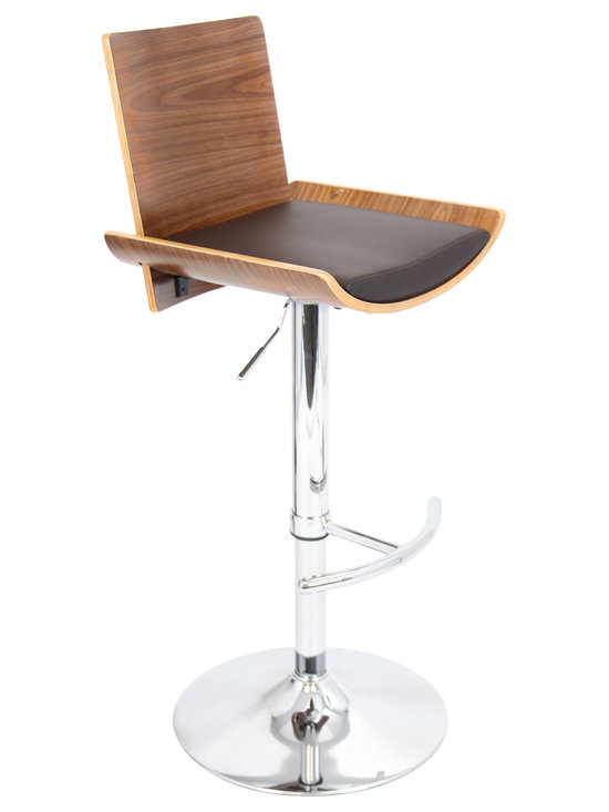Vittorio Bar Stool - WALNUT/BROWN