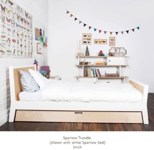 Twin bed with optional trundle by oeuf 1sptw0x and 3sptr modern