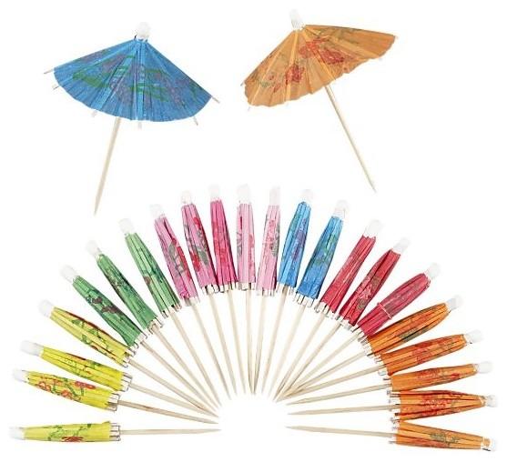 Set of 24 Umbrella Picks in Drinkware wine-and-bar-tools