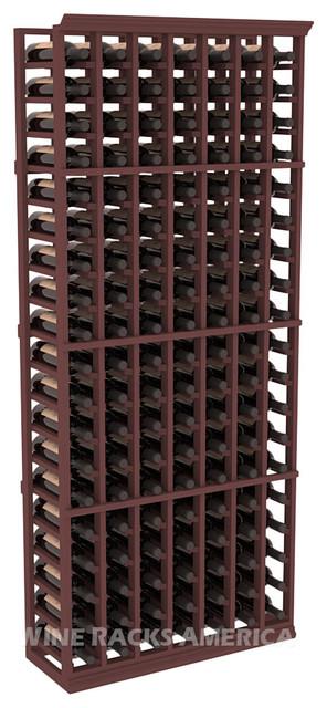 7 Column Standard Cellar Rack in Pine with Walnut Stain traditional-wine-racks