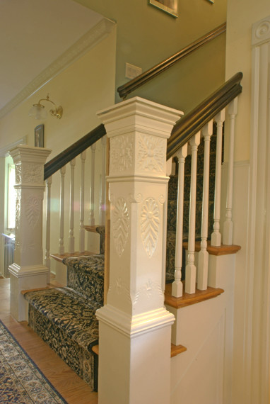 Grand Victorian traditional-staircase