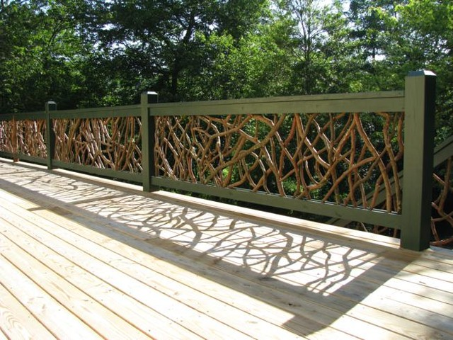 Mountain laurel deck railing outdoor products other for Garden decking handrails