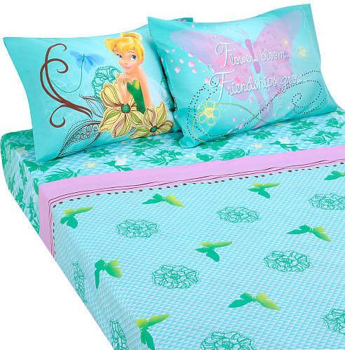 Disney Fairies Butterfly Glow 4-Piece Full Bedding Sheet Set modern-kids-bedding