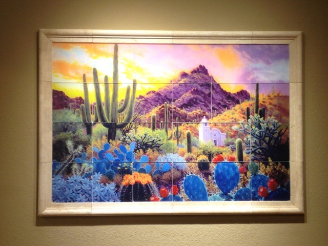 Residential glass tile mural southwestern phoenix by for Creative mural art