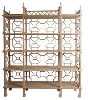 Laurent Teak Etagere - Asian - Patio Furniture And Outdoor Furniture - by Kristen Buckingham