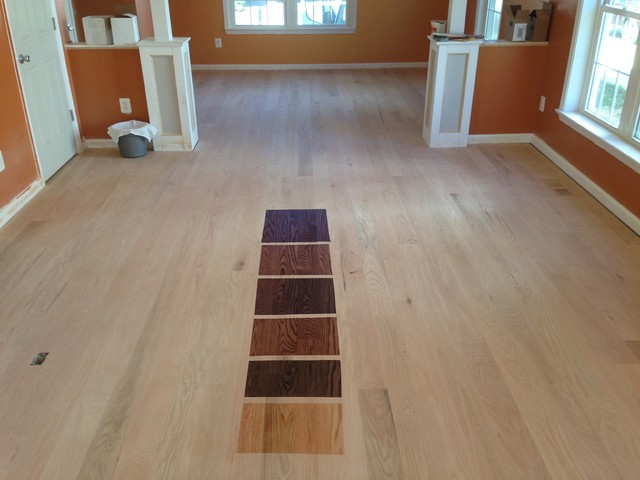 5 unfinished red oak install and finish Unstained hardwood floors