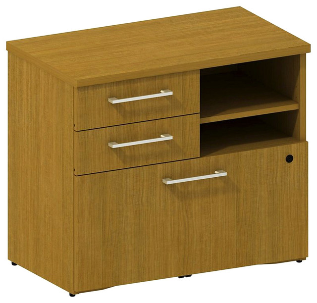 Bush 300 Series Lower Piler and File Cabinet in Modern Cherry modern-filing-cabinets