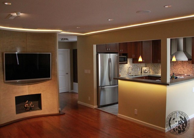 "TV and Fireplace"", entertainment center, living room - san francisco ..."