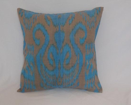 ikat pillow covers, ikat, ikat cushion, yellow ikat, blue ikat, red ikat, ikat - gret uzbek ikat,