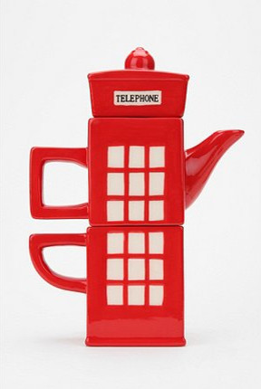 London Calling Tea-for-One Set eclectic serveware