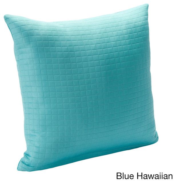 Contemporary Decorative Pillows: Modern Spa Solid Square Stitched Accent Pillow