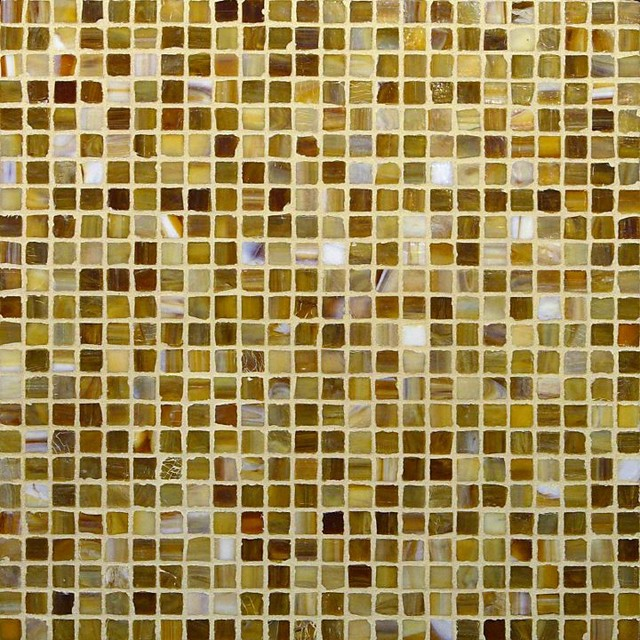 """Coffee Blend 1/2"""" x 1/2"""" Brown Pool Frosted Glass modern-tile"""