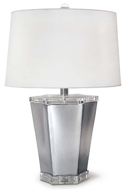 Regina Andrew Chrome and Crystal Scallop Lamp traditional-table-lamps