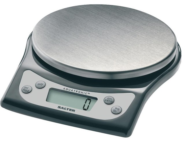 Salter stainless steel aquatronic kitchen scale for How much is a kitchen scale