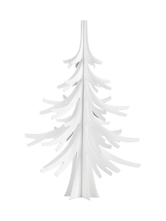 """White 24"""" Christmas Tree in Accessories   Crate and Barrel -"""
