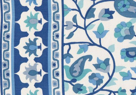 Rohet Blue Fabric eclectic-upholstery-fabric