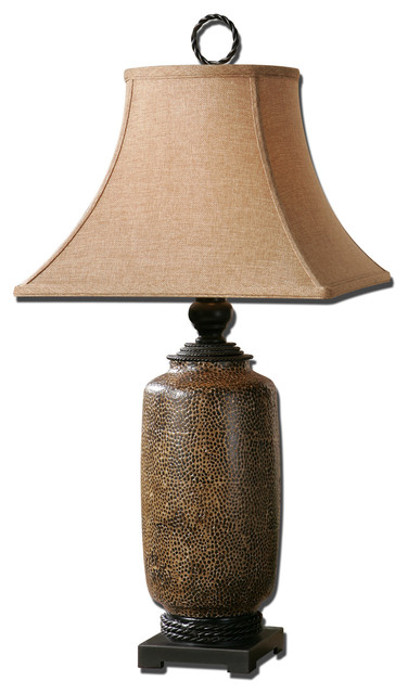 Gravina Antique Chocolate Lamp traditional-table-lamps