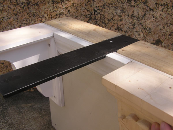 Knee wall hidden granite bracket brackets jacksonville Granite counter support