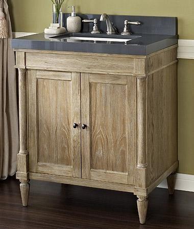 Fairmont Designs 142-V30 Rustic Chic 30 Inch Vanity In Weathered Oak - Bathroom Vanities And ...