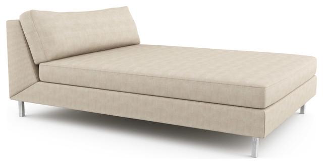 mota double chaise armless custom modern indoor chaise lounge