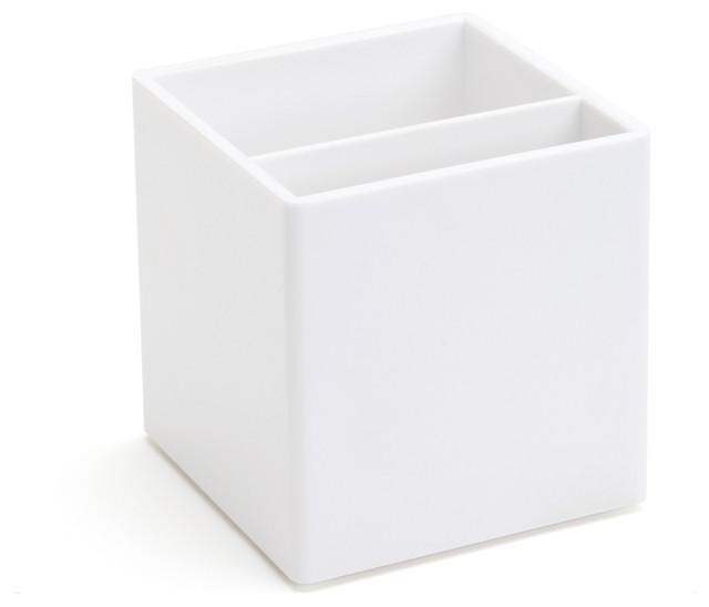 Pen Cup, White modern-desk-accessories
