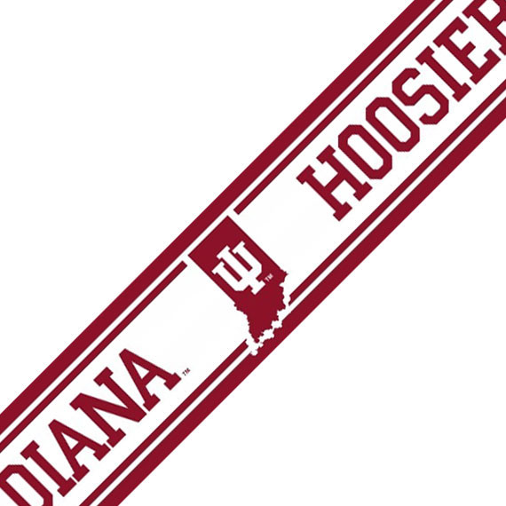 NCAA Indiana Hoosiers Accent Self-Stick Wall Border modern-decals