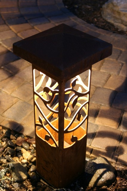 Http Www Houzz Com Photos 3270367 Decorative Steel Bollard Lights Contemporary Outdoor Lighting Indianapolis