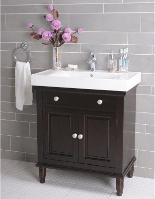 Stockholm Single Bathroom Vanity - contemporary - bathroom ...