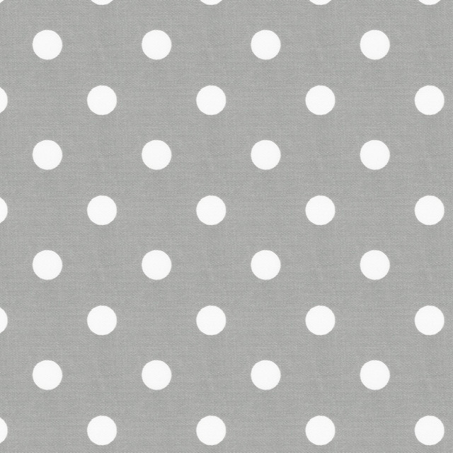 Gray and White Polka Dot Fabric traditional-fabric